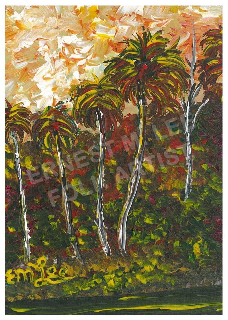 Orange Sky Palms