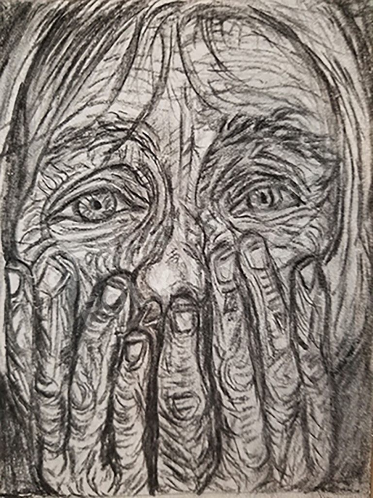 Grandman Crying