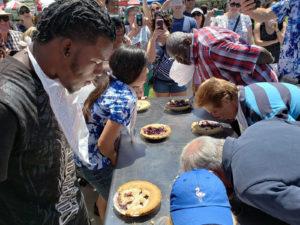 pie-eating The Mount Dora Blueberry Festival